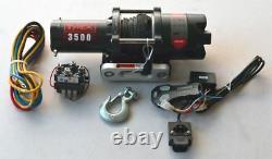Raptor 4x4 Tyrex ATV UTV Winch 3500lb Synthetic Rope Off Road Winching Quad