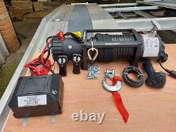 Recovery Truck 12v Electric Recovery Water Proof Winches 13500lb Synthetic Rope