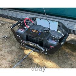 Rockland VMI14 12,000 Lb 12V Electric Integrated Vehicle Winch (Synthetic Rope)