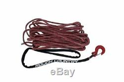 Rough Country Red Synthetic Winch Rope with Clevis Hook and Sleeve 85 FT