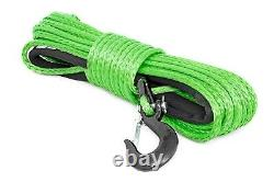 Rough Country Synthetic Winch Rope, Green, 3/8 x 85', 16,000-lb Rating RS113