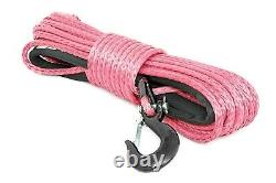 Rough Country Synthetic Winch Rope, Pink, 3/8 x 85', 16,000-lb Rating RS136