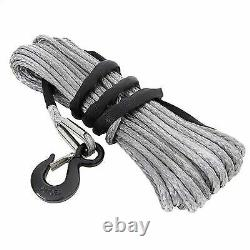 Smittybilt 10,000 Pound XRC Synthetic Winch Rope, 94 Foot Length (Gray) 97710