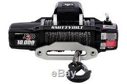 Smittybilt X2O-10K 98510 Comp Waterproof Wireless Synthetic Rope Winch Jeep 4X4