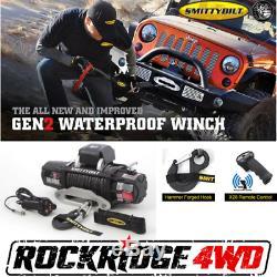 Smittybilt X2O-10K Waterproof Wireless Winch Gen2 with Synthetic Rope Jeep Truck