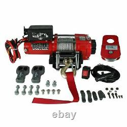 Stealth 3500lb 12v Electric Steel Winch With Synthetic Rope & Pulley Block
