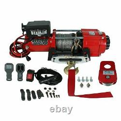 Stealth 4500lb 12v Electric Winch With Synthetic Rope & Includes Pulley Block