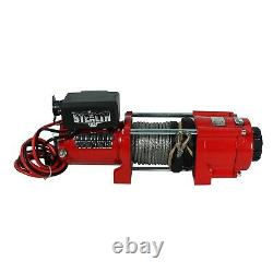 Stealth 4500lb 12v Electric Winch with Synthetic Rope, Control & Pulley Block