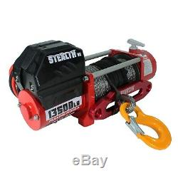 Stealth V2 13500lb 12v Winch with Synthetic Rope & Mounting Plate