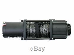 SuperATV Heavy Duty 4500 Lb. Synthetic Rope ATV UTV Winch With Wireless Remote