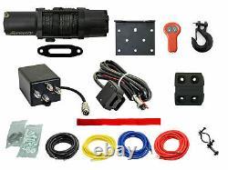 SuperATV Heavy Duty 6000 Lb Synthetic Rope ATV UTV Winch with Wireless Remote