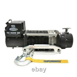 Superwinch 9500 LBS 12 VDC 3/8in x 80ft Synthetic Rope Tiger Shark 9500 Winch