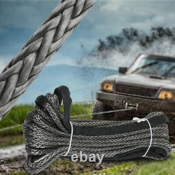 Synthetic Winch Rope 10mm x 30m Line Recovery Cable Extremely Light Low Stretch