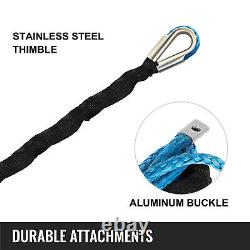 Synthetic Winch Rope 25300lbs 1/2 x 164' Winch Line Rope with Protective Sleeve