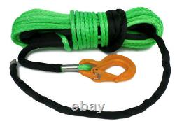 Synthetic Winch Rope Green 100ft 11mm 11800KG UHMWPE self recovery 4x4
