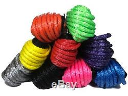 Synthetic Winch Rope, Hot Pink 100ft 11mm 11800KG Dyneema SK75 self recovery 4x4