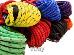 Synthetic Winch Rope Line Cable 3/8 x 100' 30,000 LB Capacity Black