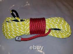 Synthetic Winch Rope Line Cable 3/8 x 100' 30,000 LB Capacity Yellow