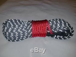 Synthetic Winch Rope Line Cable 7/16 x 100' 30,000 LB Capacity Black