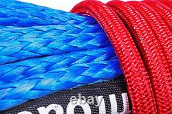 Synthetic Winch Rope Line Cable 7/16 x 100' 30,000 LB Capacity Blue ARE
