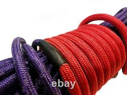 Synthetic Winch Rope Line Cable 7/16 x 100' 30,000 LB Capacity Purple