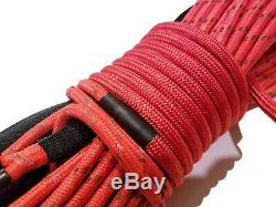 Synthetic Winch Rope Line Cable 7/16 x 100' 30,000 LB Capacity RED