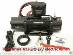 Terrafirma A12000 12V 4x4 Synthetic Rope Recovery Winch TF3301