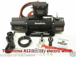 Terrafirma A 12000LB 4x4 Recovery Winch 12,000lb 12v Synthetic Rope TF3301
