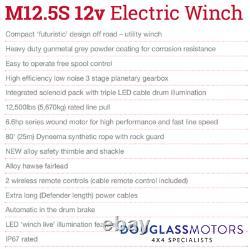 Terrafirma M12.5S 12500lb 12V Recovery Winch Synthetic Rope TF3320