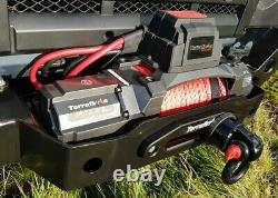 Terrafirma M12.5S 12v electric winch synthetic rope & 2 wireless remotes TF3320