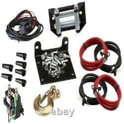 Viper UTV Winch Midnight 4500lb 50 feet of Synthetic Rope & a Wireless Remote