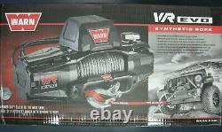 WARN 103251 VR EVO 8-S Electric 12V DC Winch with Synthetic Rope 8,000 lb Cap