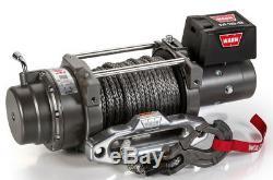 WARN 97730 M15-S 15000 lb Winch 80' 3/8 Spydra Synthetic Rope Heavy Series