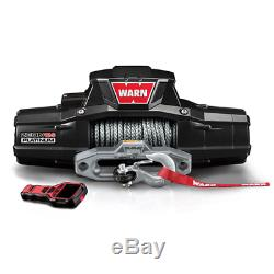 WARN ZEON 12-S Platinum Winch with Spydura Pro Synthetic Rope and Hawse Fairlead