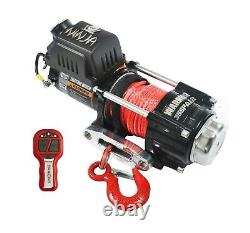 WARRIOR NINJA C3500 12v ELECTRIC WINCH WITH SYNTHETIC ROPE + WIRELESS REMOTE