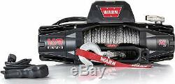 Warn 103253 VR10-S Winch 10000 Pound Line Pull 90 ft Synthetic Rope Wired Remote