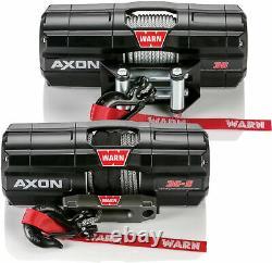 Warn ATV UTV Axon 3500 Wire Rope Winch Synthetic 101130