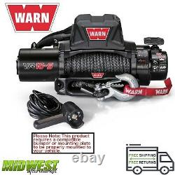 Warn VR EVO 10-S 10K LB Self-Recovery Electric Winch with 90ft of Synthetic Rope