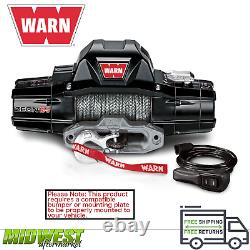 Warn Zeon 12-S Black 12k LB Rated 80'x3/8 Synthetic Spydura Pro Rope Winch