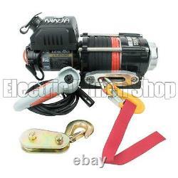Warrior Ninja 3500lb 24v Electric Winch, Synthetic Rope, ATV, Utility, Boat, New