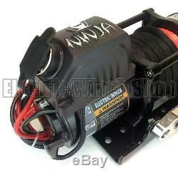 Warrior Ninja 4500lb 12v Winch with Synthetic Rope, Wireless Control & Cover