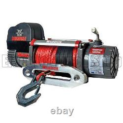 Warrior Samurai 8000 12v Next Generation V2 Electric Winch with Synthetic Rope
