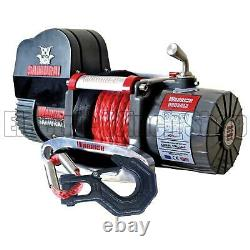 Warrior Samurai 9500 Short Drum 12v V2 Electric Winch with Synthetic Rope