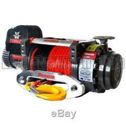 Warrior Samurai S17500 12v Winch with Synthetic Rope