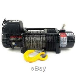 Warrior Spartan 8000lb 12v Electric Winch, Synthetic Rope, 4x4, Offroad, New