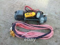 Warrior Winch S17500 12V Synthetic rope+ 2x remote 4x4 offroad recovery