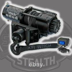 Winch Kit 2500 lb For Yamaha Grizzly 700 4x4 2016-2020 (Synthetic Rope)
