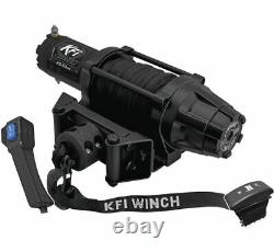 Winch Kit 5000 lb Wide For Kubota RTV-X1100C Current (Synthetic Rope)