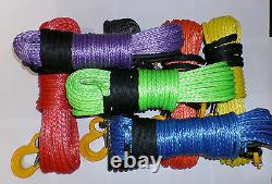 100 Ft 11mm Black Synthetic Treuil Rope & Hawse Self Recovery 4x4 Qualité Uhmwpe