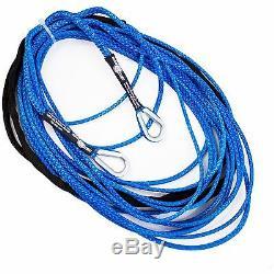 100' X 1/4 Amsteel-blue Utv Atv Sxs Extension Corde De Treuil Synthétique Câble Ligne